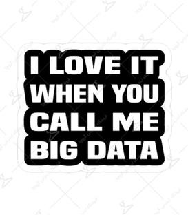 استیکر لیت آرت طرح Big Data