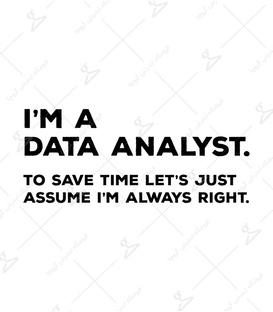 استیکر لیت آرت طرح Data Analyst