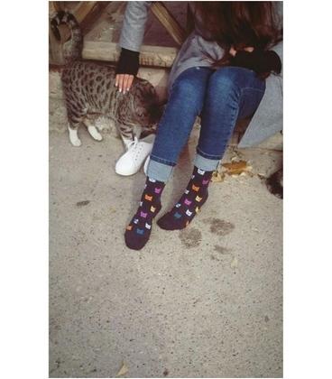 جوراب داینو ساکس طرح گربه