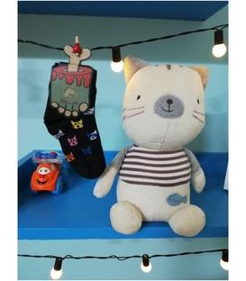 جوراب داینو ساکس بچگانه طرح گربه (6 ماه تا 3 سال)