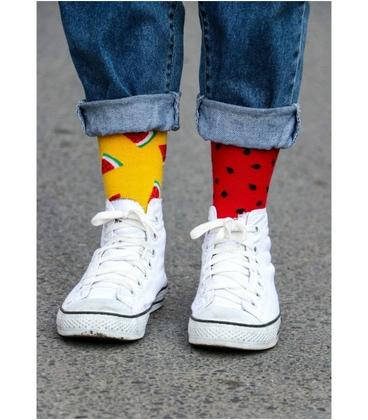 جوراب نانو ساق بلند پاآرا طرح هندوانه