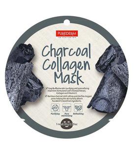 ماسک نقابی کلاژنه صورت Purederm پیوردرم زغال - 1 ورق