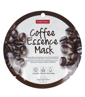 ماسک نقابی صورت Purederm پیوردرم با عصاره قهوه - 1 ورق