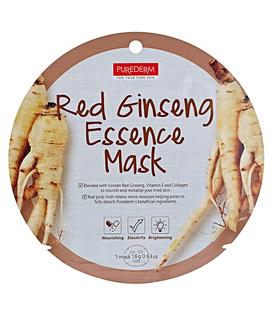 ماسک نقابی صورت Purederm پیوردرم با عصاره جینسینگ قرمز - 1 ورق