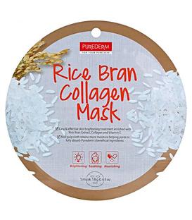 ماسک نقابی کلاژنه صورت Purederm پیوردرم با عصاره سبوس برنج - 1 ورق