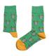 جوراب ساقدار داینو ساکس طرح گوزن فضانورد سبز