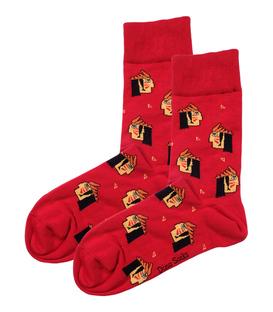 جوراب ساقدار داینو ساکس طرح سرخپوست قرمز