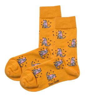جوراب ساقدار داینو ساکس طرح سگ زرد