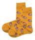 جوراب ساقدار داینو ساکس طرح تن تن و میلو زرد