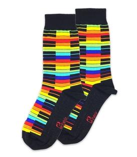 جوراب ساقدار نانو پاتریس طرح پیانو رنگی مشکی