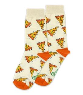 جوراب ساقدار نانو پاتریس طرح پیتزا کرم