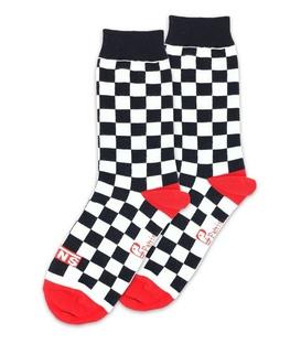 جوراب ساق دار نانو پاتریس طرح Vans چهارخانه