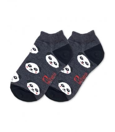 جوراب بچگانه مچی نانو پاتریس طرح پاندا خاکستری