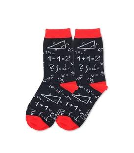 جوراب بچگانه ساق دار نانو پاتریس طرح ریاضی مشکی