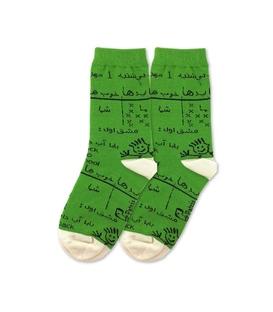 جوراب بچگانه ساق دار نانو پاتریس طرح تخته سیاه سبز