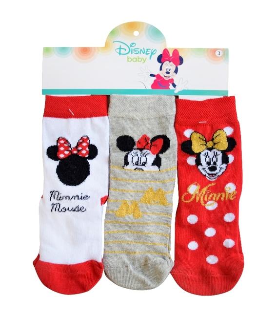 جوراب بچگانه نیم ساق Çimpa چیمپا طرح مینی موس - سه جفت