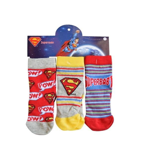 جوراب بچگانه نیم ساق Çimpa چیمپا طرح سوپرمن - سه جفت