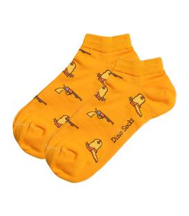 جوراب مچی داینو ساکس طرح تفنگ و چکمه پرتقالی