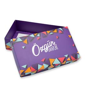 جعبه کادویی Özgür طرح مثلثی بنفش