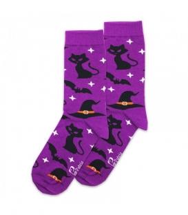 جوراب ساقدار نانو پاتریس طرح خفاش و گربه