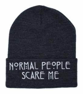 کلاه بافت طرح Normal People Scare Me دودی