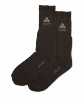جوراب حوله ای ساقدار پاآرا طرح ورزشی قهوهای