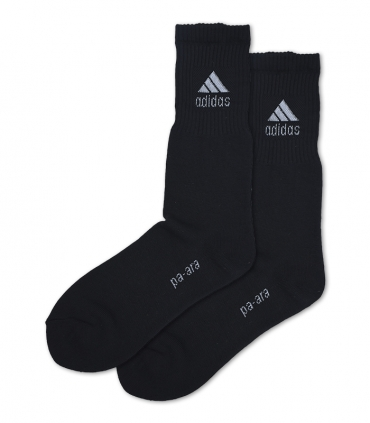 جوراب حوله ای ساقدار پاآرا طرح ورزشی مشکی