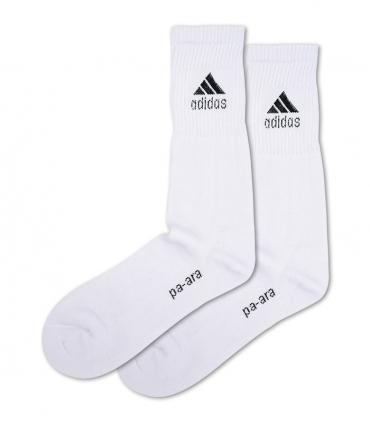 جوراب حوله ای ساقدار پاآرا طرح ورزشی سفید
