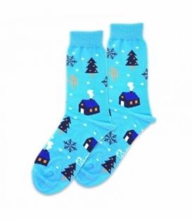 جوراب ساقدار نانو پاتریس طرح کلبه زمستانی آبی