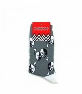 جوراب ساقدار دارکوب طرح صورتک