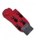 جوراب قوزکی Chetic طرح گربه قرمز