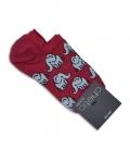 جوراب قوزکی Chetic طرح فیل قرمز