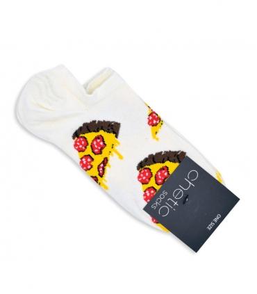 جوراب قوزکی Chetic طرح پیتزا درشت سفید