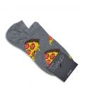 جوراب قوزکی Chetic طرح پیتزا درشت خاکستری