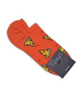 جوراب قوزکی Chetic طرح پیتزا نارنجی
