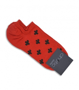 جوراب قوزکی Chetic طرح کاکتوس قرمز