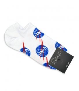 جوراب قوزکی Chetic طرح ناسا سفید