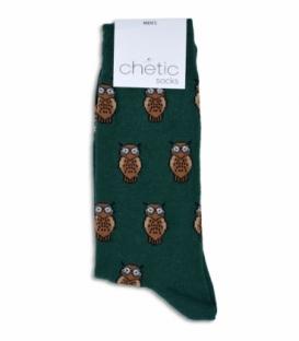 جوراب ساقدار Chetic طرح جغد سبز