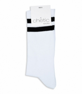 جوراب ساقدار Chetic طرح دو خط سفید