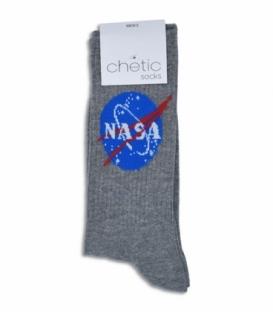 جوراب ساقدار Chetic طرح ناسا خاکستری