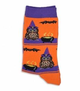 جوراب ساقدار Chetic طرح جغد نارنجی