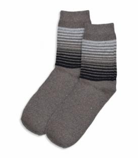 جوراب پشمی ساقدار طرح راه راه شتری