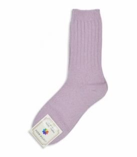جوراب پشمی ساقدار طرح لمه صورتی