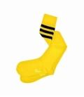 جوراب بالا زانو نانو پاتریس طرح سه خط زرد مشکی