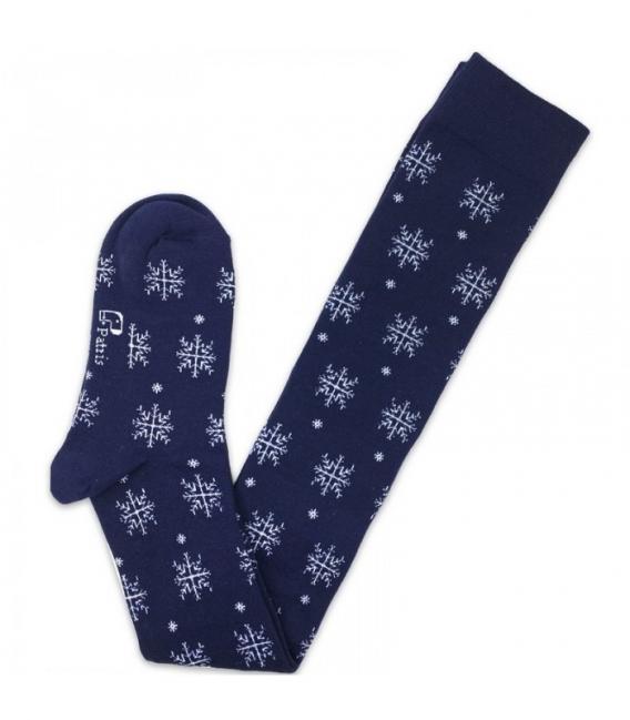 جوراب بالا زانو نانو پاتریس طرح برف سرمهای