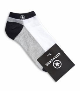 جوراب مچی طرح Converse خاکستری سفید
