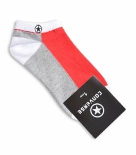 جوراب مچی طرح Converse خاکستری قرمز
