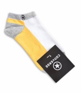جوراب مچی طرح Converse زرد سفید