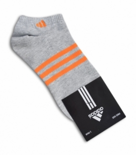 جوراب مچی طرح adidas خاکستری نارنجی