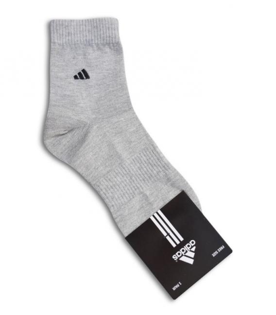 جوراب نیم ساق طرح adidas خاکستری
